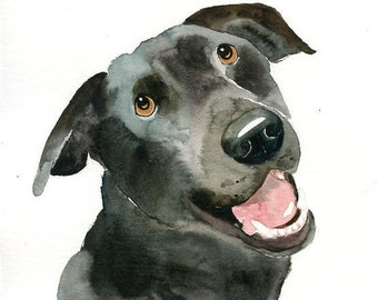 Custom dog portrait, Custom dog painting, custom pet portrait, Pet portrait memorial,  Original watercolor painting 8X10inch