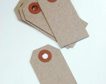 25% Off Summer Sale Mini Shipping Paper Tags - Natural Brown Kraft - 1.375 x 2.75 - Pack of 150