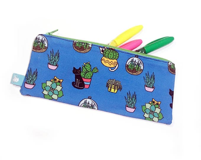 Featured listing image: Succulent Kitties Pencil Bag
