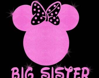 SALE Minnie Mouse Big Sister SVG JPEG instant digital file download for vinyl cutters