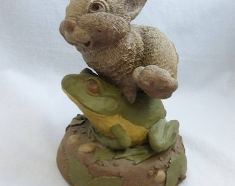 Vintage Cairn Studio Tim Wolfe's Hop Tuit Bunny and Frog  Re-Signed