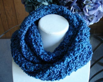 Blue Infinity Cowl Scarf