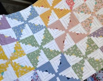 Pinwheel Quilt Top - 37 x 62 - Rothermel Cotton Fabrics