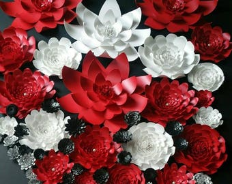 Weddings Large Grouping of Paper Flowers in the colors of your choice
