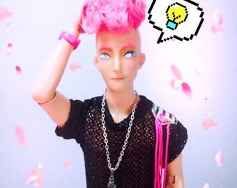 A Little Head OOAK doll Male Gum No fourteen of twenty
