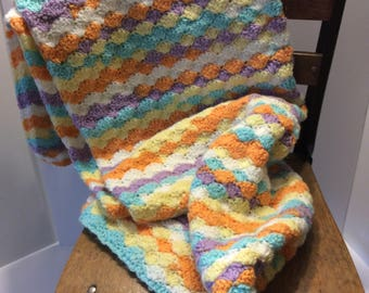 Crochet baby/crib blanket.