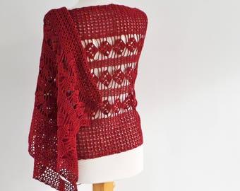 MELISANDRE, Crochet shawl pattern, pdf