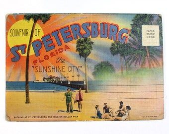 Vintage St. Petersburg Florida Souvenir Folder
