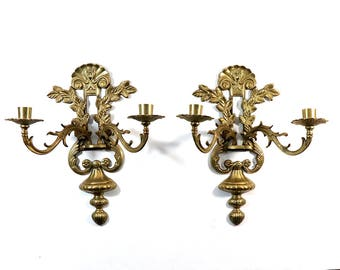 Pair of Vintage Brass Sconces