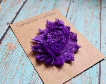 Shabby Grape Purple Flower Hair Clip