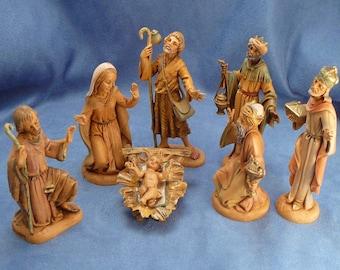 "Vintage Fontanini Nativity Figures 5"" Scale 8 Figures 1983"