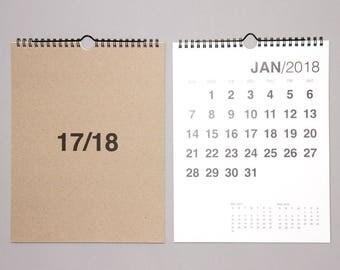 17-18 Bold Wall Calendar