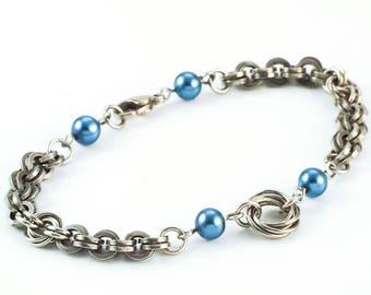 Breezy Beaded Titanium Bracelet