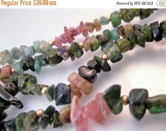 """SHIPS 6/26 w/FREE Jewelry Vintage 14k Tourmaline Necklace 19"""" Uncut Jewelry Jewellery"""