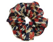 red, white and blue,Chiffon scrunchies,stretch ponytail holders,hair ties ,Kimono fabrics