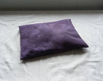 Meditation cushion purple buckwheat hulls pillow small travel natural dye ethical sustainable eco organic minimalist nature yoga boho hippie