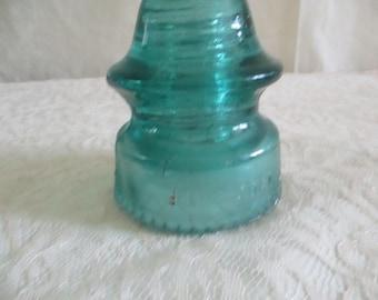 Petticoat  Telephone  Insulators Green Glass