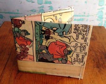 SALE Grape Ape comic book wallet.  Handmade from real vintage comic books.