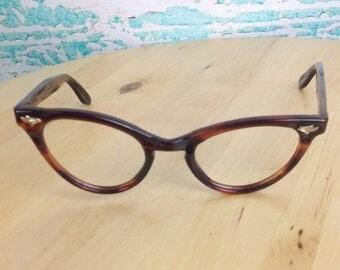 SALE Vtg Vintage 60s 1960s Styl-Rite Optics Brown Cat Eye Eyeglasses Frames Glasses Eyewear NOS New Old Stock No Lenses