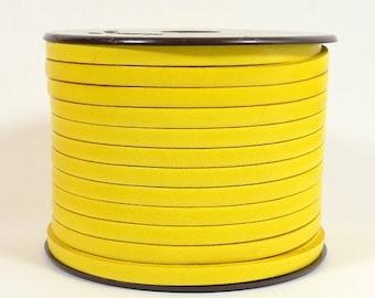 25% Off Lemon - 5mm Flat Italian Dolce Leather - L5F-D1 - Choose Your length