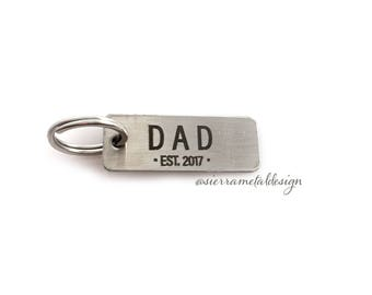 Dad Est Keychain Gift Best Dad Ever Keychain New Dad Gift Fathers Day Dad Gift For Dad Soon To Be Dad