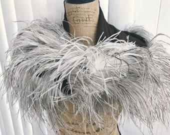Ohhh La La -- Luscious Vintage 50's - 60's Era Fluffy Feather Wrap/Stole