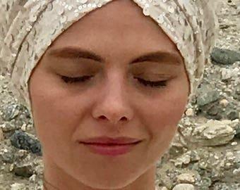 Vintage Inspired Clasic Sequin Turban