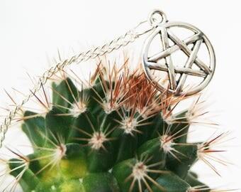 Silver Plated Pentagram Star Pendant Necklace, Pentagram Jewelry, Pentagram Gift, Star Necklace, Star Jewellery, Pentagram Jewellery