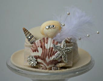 Seashell Top Hat - Dog, Baby - dog wedding