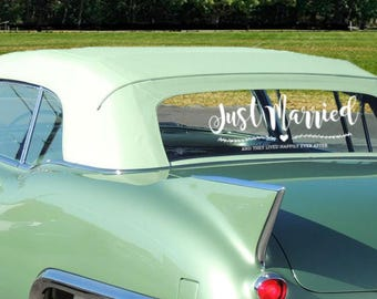 Just Married Car Sign- Vine Vinyl Decal