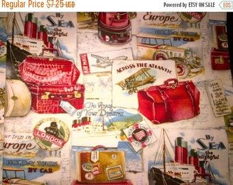 Gorgeous Vintage Look Travel Fabric--HARD FIND