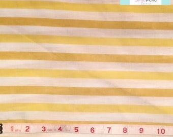 Twin Vintage Fitted Sheet with Yellow Stripes