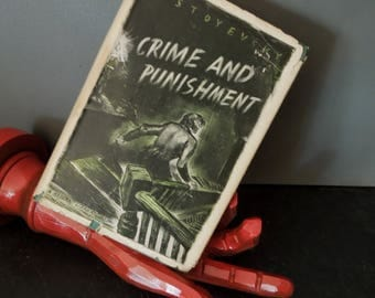 Crime and Punishment By Dostoyevsky - A Modern Library Vintage Edition Original Dust Jacket - Literary Gift #199