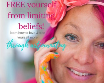 Listing if IN the EU: NEW Online Class, 12 weeks, Love & Free yourself more, through art journaling