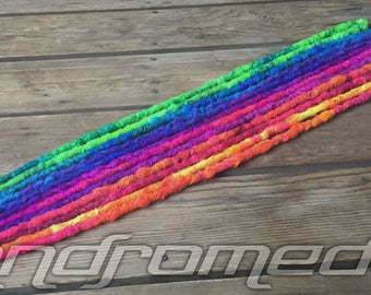 10SE or 5DE CUSTOM Crocheted Dreadlock Extensions - Made to Order Synthetic Dread Set - FREE SHIPPING!