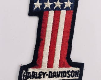 Vintage Harley Davidson Ameican Flag One Patch