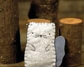 hand-stitched wool felt finger puppet: squirrel by kata golda