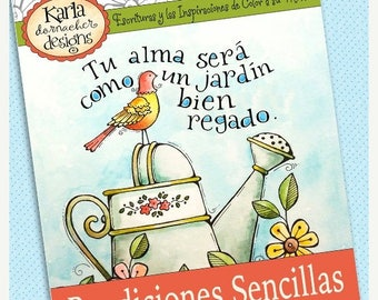 50% OFF SALE SPANISH Bendiciones Sencillas Libro de Colorear Instant Download Simple Blessings Adult Coloring Book Latino Hispanic Missions