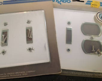 Mirrored Lightswitch Plates ~Electrical Plate ~ Beveled Mirrored Plates ~ Shabby Chic ~ Hollywood Regency ~ Remodeling ~ Bathroom Plates