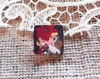Christmas Pin, Christmas Brooch, Festive Pin, Vintage Christmas, Gift for Her
