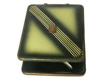 Vintage Art Deco Folding Travel Shaving Mirror Embellished Vintage Candle Holder Vintage Mirror AS3