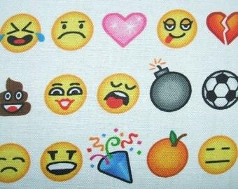 OMG ... LOL Emoji Art Texting Robert Kaufman Fabric Yard