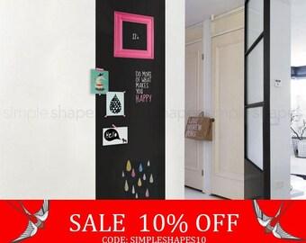 Summer Sale - Chalkboard Wall Decal, Large Chalkboard Sticker, Rectangular Chalkboard Decal, Chalkboard Door Decal, Door Sticker