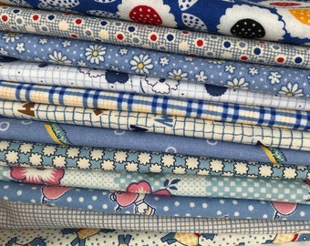 Aunt Grace 1930's Reproduction Blue (B3) fat quarter bundle OOP HTF