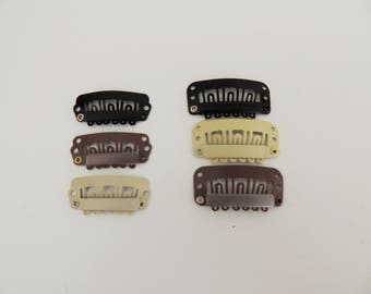 Birdcage veil comb DIY snap small combs small bow clips Weft Clip or Micro Bead Finish For Dreadlock Extensions