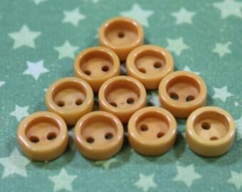 Bakelite Buttons Vintage Butterscotch 10  Small Buttons Bakelite Buttons