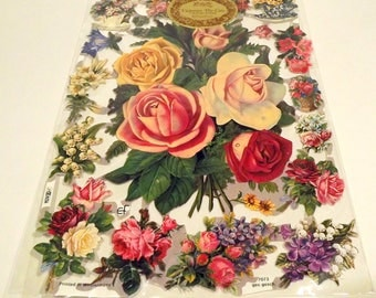 Victorian Die Cuts Flowers Reproduction New Old Stock