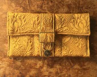 Gold Green keeper Wallet with overall buckle