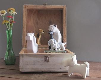 wooden box - Keepsake Box - handmade vintage box/tool box/ craft supplies - hobby - storage