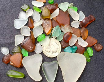 A-Sea Glass! Beach Glass! of HAWAII Beaches HEARTS! SALE! Bulk Sea Glass! Mosaic Tiles! Seaglass! Genuine Sea Glass! Seaglass